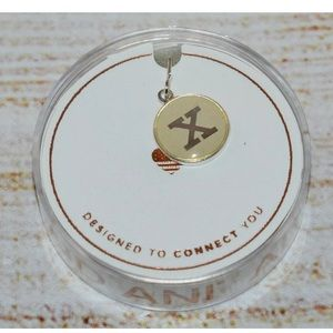 New Alex and Ani Silver Letter x Necklace Charm